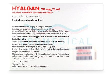 HYALGAN® Italian 5 syringes