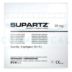 SUPARTZ® English 10mg/ml 5-2.5ml prefilled syringes